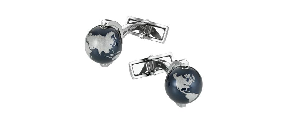 Boutons de manchette à globes rotatifs Montblanc