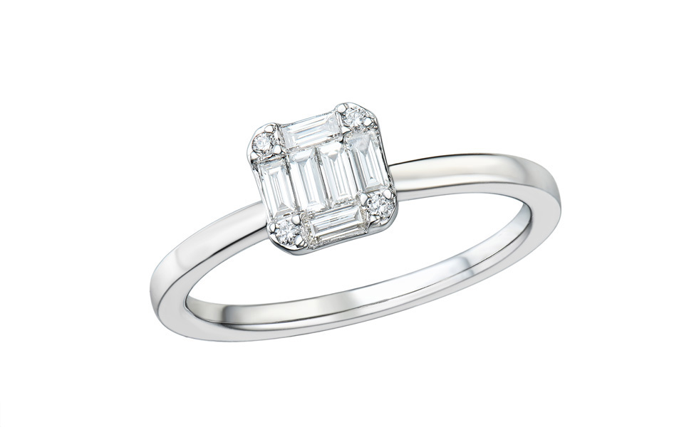 Tollet Bague Confidence or blanc 18 carats
