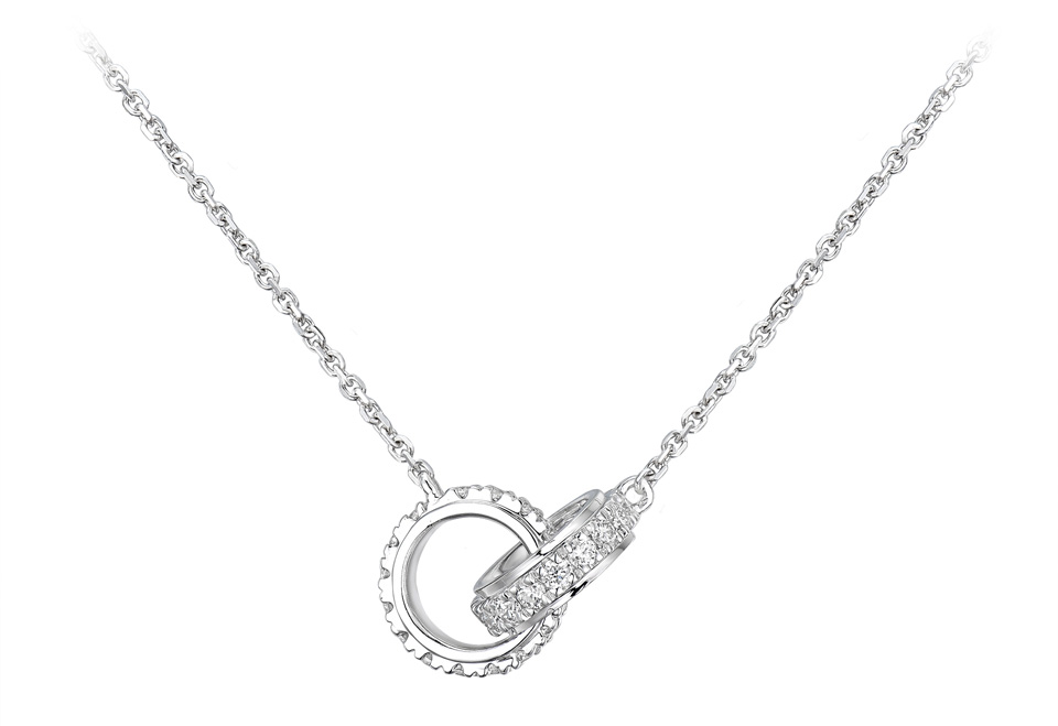 Collier d'or blanc 18 carats collection confidence by Tollet
